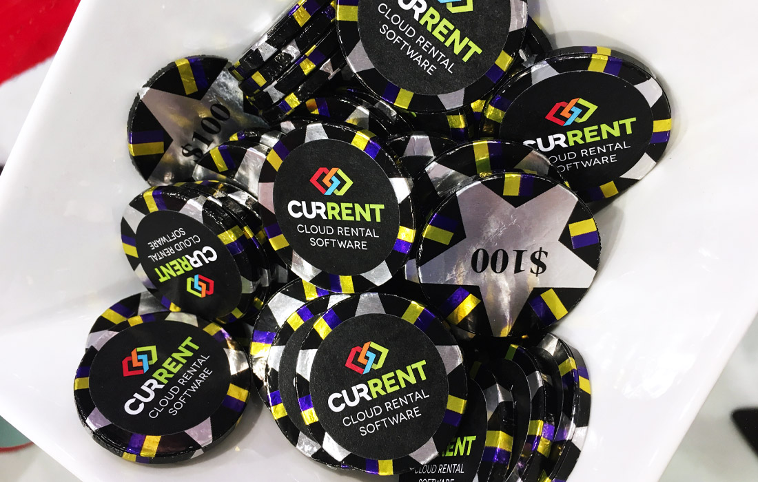 These choc poker chips proved to be a popular choice.