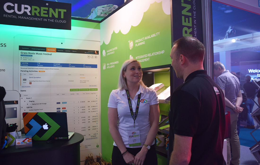 Lisa chatting through our exciting features for the rental industry.