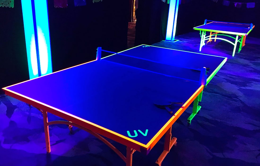 From UV table tennis to LED table football, Xtreme Vortex supply a selection of glowing activities.