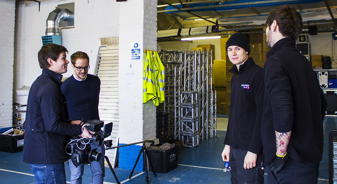 Jason, Christopher, Billy and Josh having fun filming in the Warehouse | Current RMS