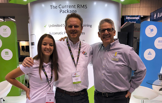 Chris and Hannah with Lou from L&M Sound and Light | Current RMS