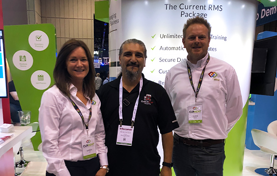 Chris and Karen with Michel from Backline Miami | Current RMS