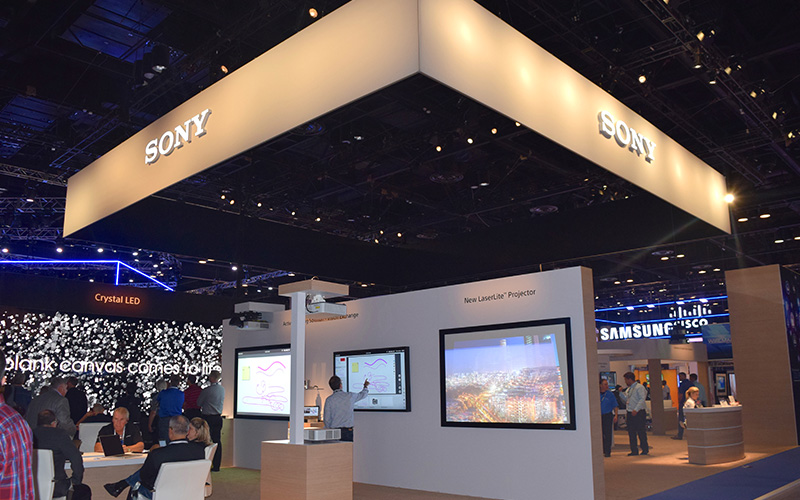 Image of Sony stand at infoComm