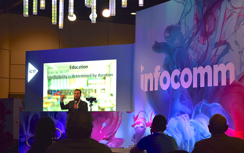 Image of Senter stage at infoComm