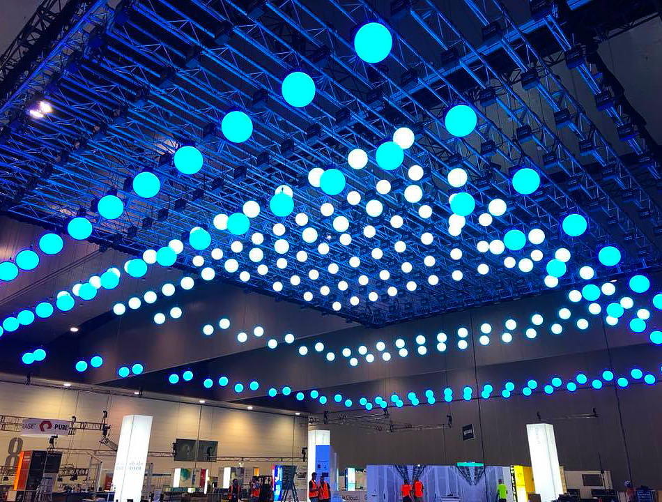 Light & Sound Solution displaying their lights at a show | Current RMS Customer Spotlight