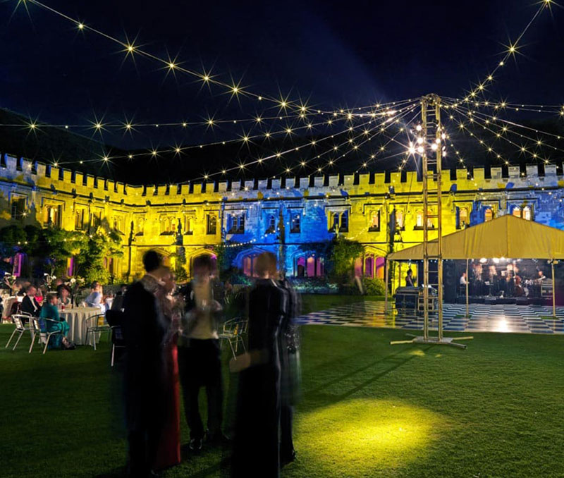 A creative and beautiful outdoor space by UK-based high-end production and events company SXS Events