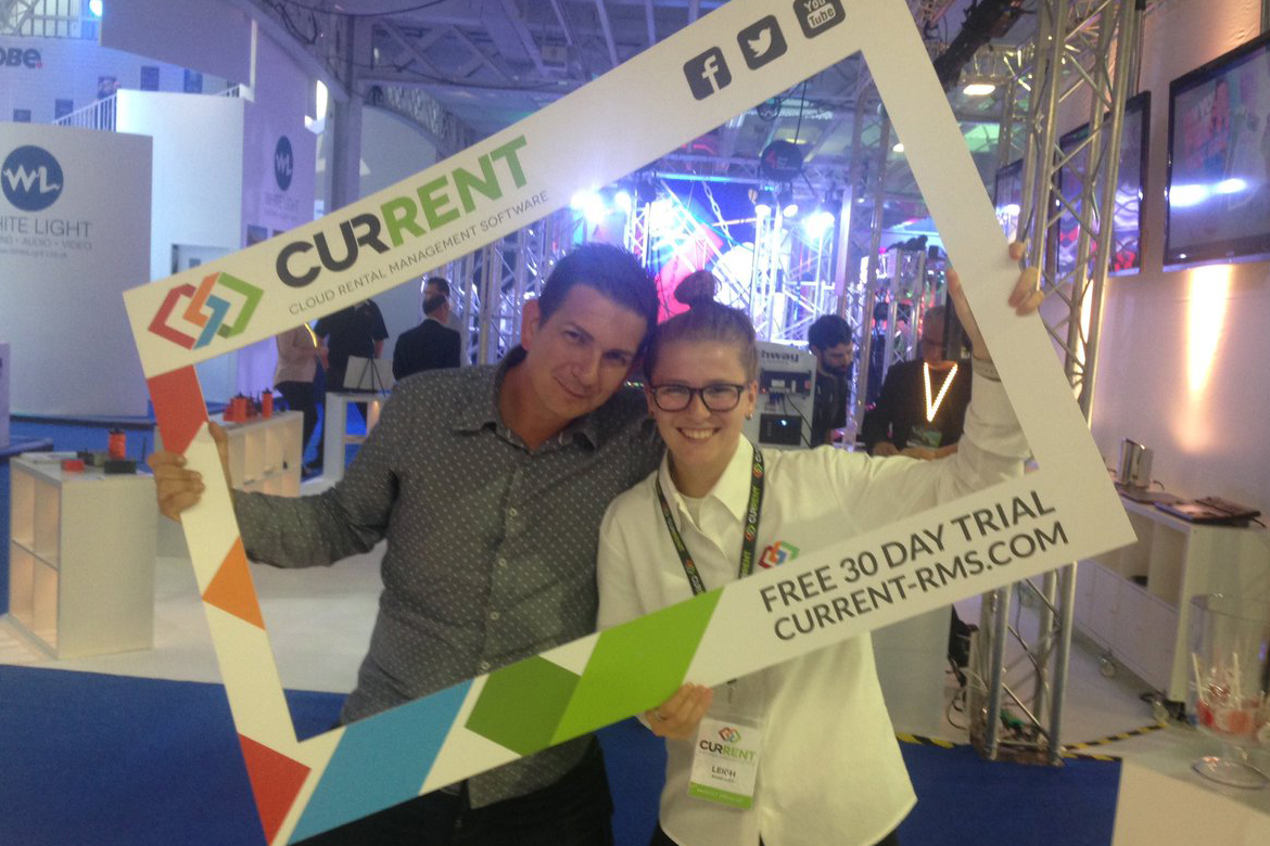 Rob Stanley from ZeroDB with Leigh, Product Specialist in the selfie frame
